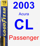 Passenger Wiper Blade for 2003 Acura CL - Premium