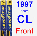 Front Wiper Blade Pack for 1997 Acura CL - Premium