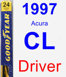 Driver Wiper Blade for 1997 Acura CL - Premium