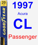 Passenger Wiper Blade for 1997 Acura CL - Premium