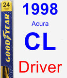 Driver Wiper Blade for 1998 Acura CL - Premium