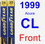 Front Wiper Blade Pack for 1999 Acura CL - Premium