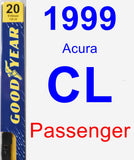 Passenger Wiper Blade for 1999 Acura CL - Premium