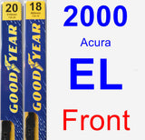 Front Wiper Blade Pack for 2000 Acura EL - Premium
