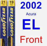Front Wiper Blade Pack for 2002 Acura EL - Premium