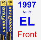 Front Wiper Blade Pack for 1997 Acura EL - Premium