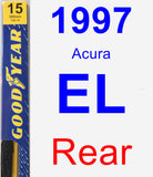 Rear Wiper Blade for 1997 Acura EL - Premium