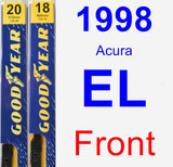 Front Wiper Blade Pack for 1998 Acura EL - Premium