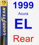 Rear Wiper Blade for 1999 Acura EL - Premium