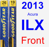 Front Wiper Blade Pack for 2013 Acura ILX - Premium