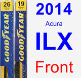 Front Wiper Blade Pack for 2014 Acura ILX - Premium