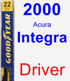 Driver Wiper Blade for 2000 Acura Integra - Premium