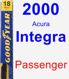 Passenger Wiper Blade for 2000 Acura Integra - Premium