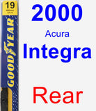 Rear Wiper Blade for 2000 Acura Integra - Premium