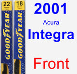 Front Wiper Blade Pack for 2001 Acura Integra - Premium
