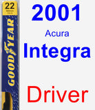 Driver Wiper Blade for 2001 Acura Integra - Premium
