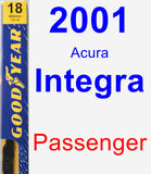 Passenger Wiper Blade for 2001 Acura Integra - Premium