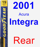Rear Wiper Blade for 2001 Acura Integra - Premium