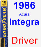 Driver Wiper Blade for 1986 Acura Integra - Premium