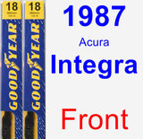 Front Wiper Blade Pack for 1987 Acura Integra - Premium