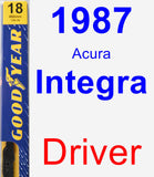 Driver Wiper Blade for 1987 Acura Integra - Premium
