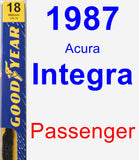 Passenger Wiper Blade for 1987 Acura Integra - Premium