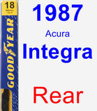 Rear Wiper Blade for 1987 Acura Integra - Premium