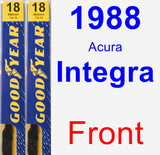 Front Wiper Blade Pack for 1988 Acura Integra - Premium