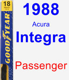 Passenger Wiper Blade for 1988 Acura Integra - Premium