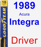 Driver Wiper Blade for 1989 Acura Integra - Premium