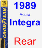 Rear Wiper Blade for 1989 Acura Integra - Premium
