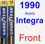 Front Wiper Blade Pack for 1990 Acura Integra - Premium