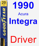 Driver Wiper Blade for 1990 Acura Integra - Premium