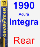 Rear Wiper Blade for 1990 Acura Integra - Premium