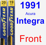 Front Wiper Blade Pack for 1991 Acura Integra - Premium