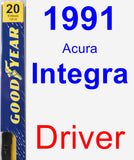 Driver Wiper Blade for 1991 Acura Integra - Premium
