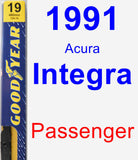 Passenger Wiper Blade for 1991 Acura Integra - Premium