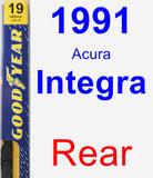 Rear Wiper Blade for 1991 Acura Integra - Premium