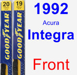 Front Wiper Blade Pack for 1992 Acura Integra - Premium