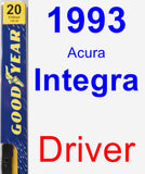 Driver Wiper Blade for 1993 Acura Integra - Premium
