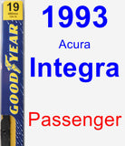 Passenger Wiper Blade for 1993 Acura Integra - Premium