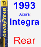 Rear Wiper Blade for 1993 Acura Integra - Premium