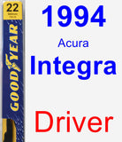 Driver Wiper Blade for 1994 Acura Integra - Premium