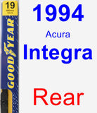 Rear Wiper Blade for 1994 Acura Integra - Premium