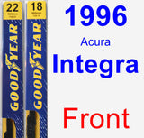 Front Wiper Blade Pack for 1996 Acura Integra - Premium