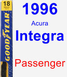 Passenger Wiper Blade for 1996 Acura Integra - Premium
