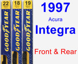 Front & Rear Wiper Blade Pack for 1997 Acura Integra - Premium