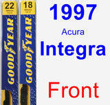 Front Wiper Blade Pack for 1997 Acura Integra - Premium