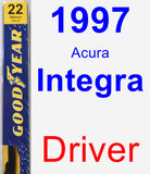 Driver Wiper Blade for 1997 Acura Integra - Premium