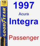 Passenger Wiper Blade for 1997 Acura Integra - Premium